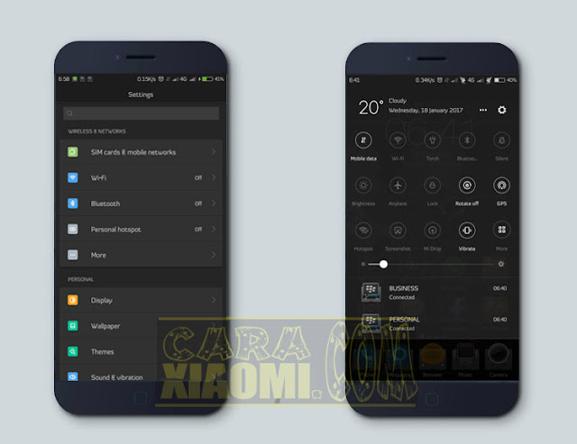 Tema MIUI Dark Map Mtz Terbaru For Xiaomi