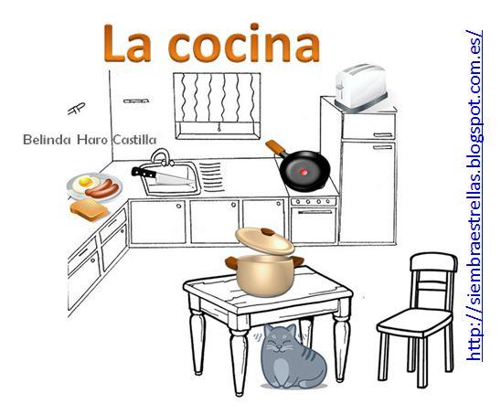 Siembra estrellas la cocina trabajamos preposiciones for Elementos de cocina para chef