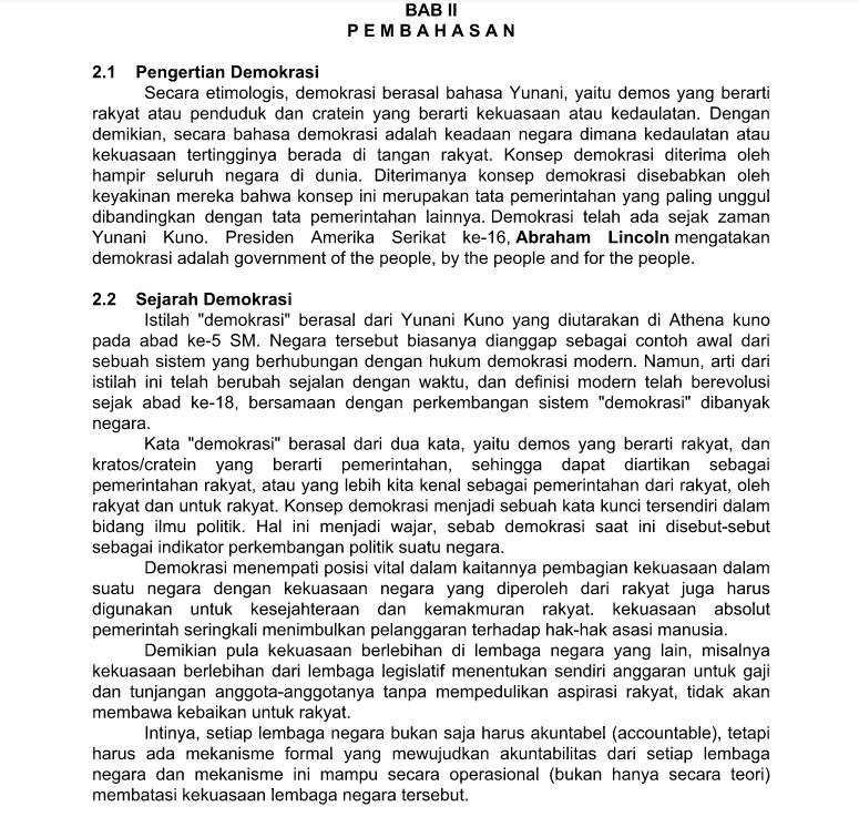 Download Makalah Pkn Demokrasi Indonesia Doc