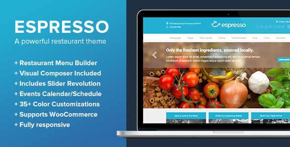 Espresso - A WordPress Theme for Restaurants - Cafes blogger