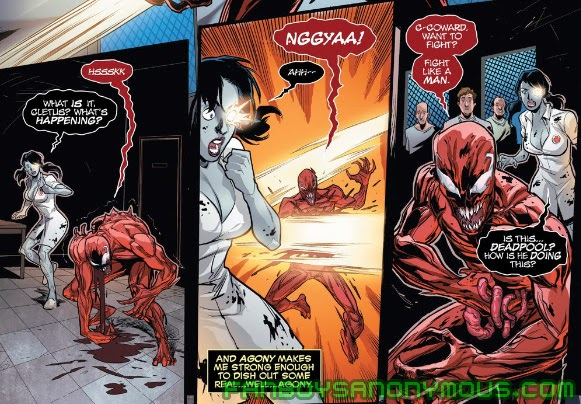 Follow Carnage and Shriek's bloody romance in Maximum Carnage and Carnage: Family Feud