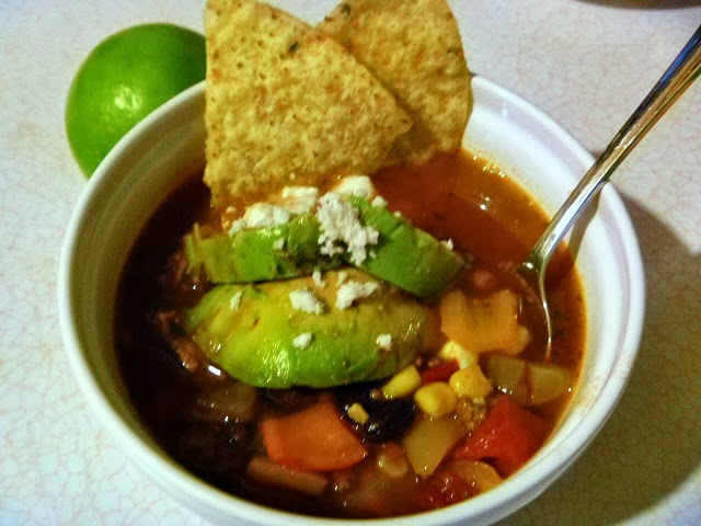 11 Healthy Soups: Quick Taco Soup - Slice of Southern
