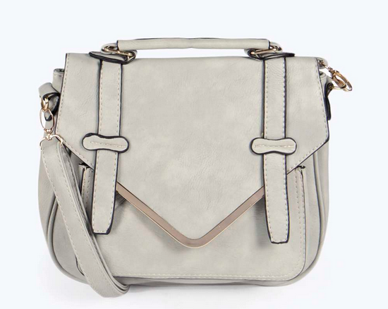 Cassie Metal Trim Satchel Cross Body Bag £18.00