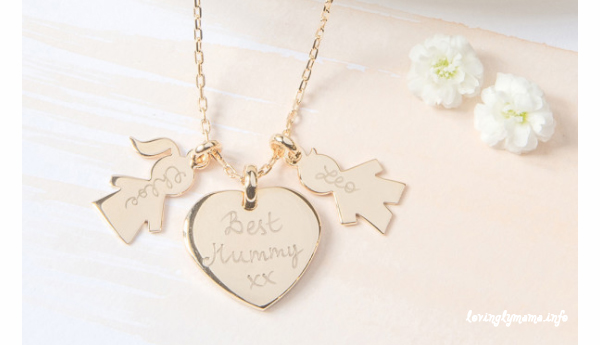 personalized mommy jewelry - Mother's Day gift suggestions - family necklace with charms