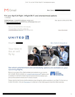 United Airlines Timing Mail That Fails