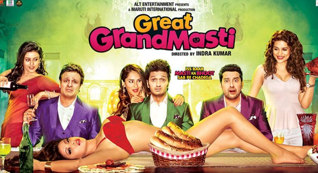 Great Grand Masti, Indra Kumar, Riteish Deshmukh, Vivek Oberoi, Urvashi Rautela, Aftab Shivdasani