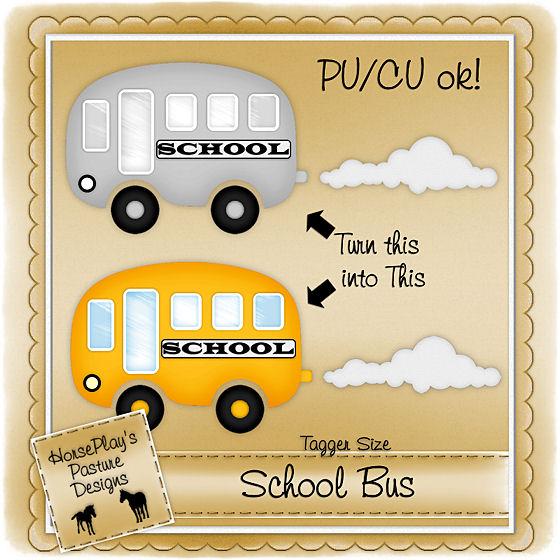 HorsePlay's Pasture Designs: School Bus Template
