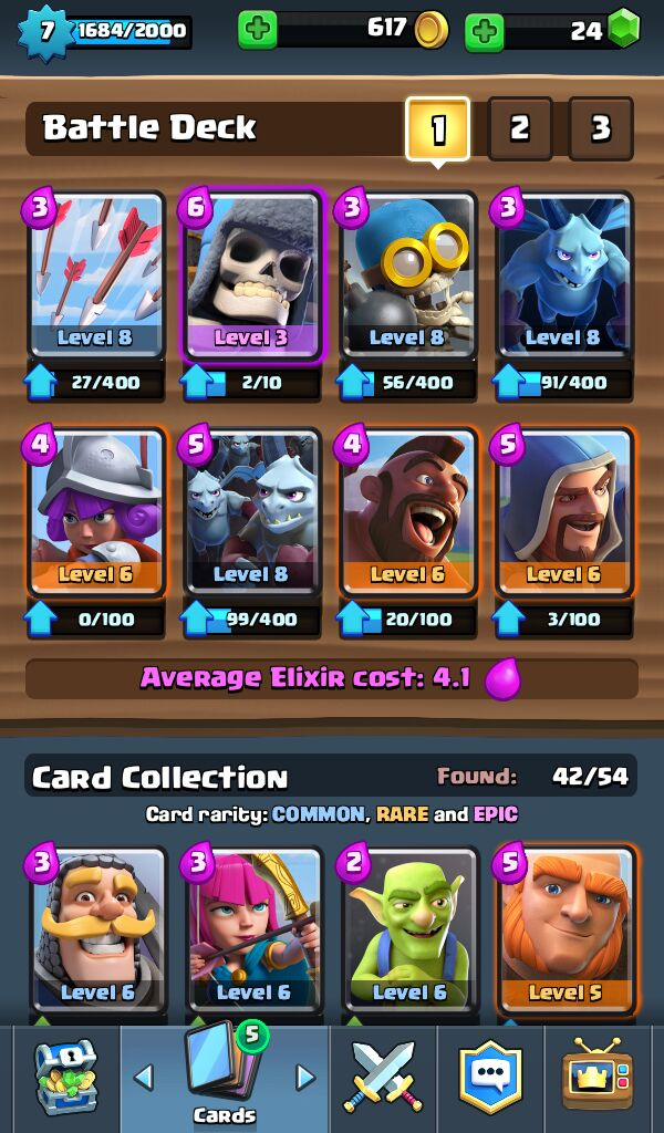 clash royale how to get rare cards