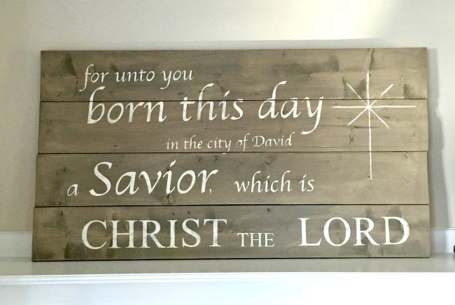Scripture Pallet Sign