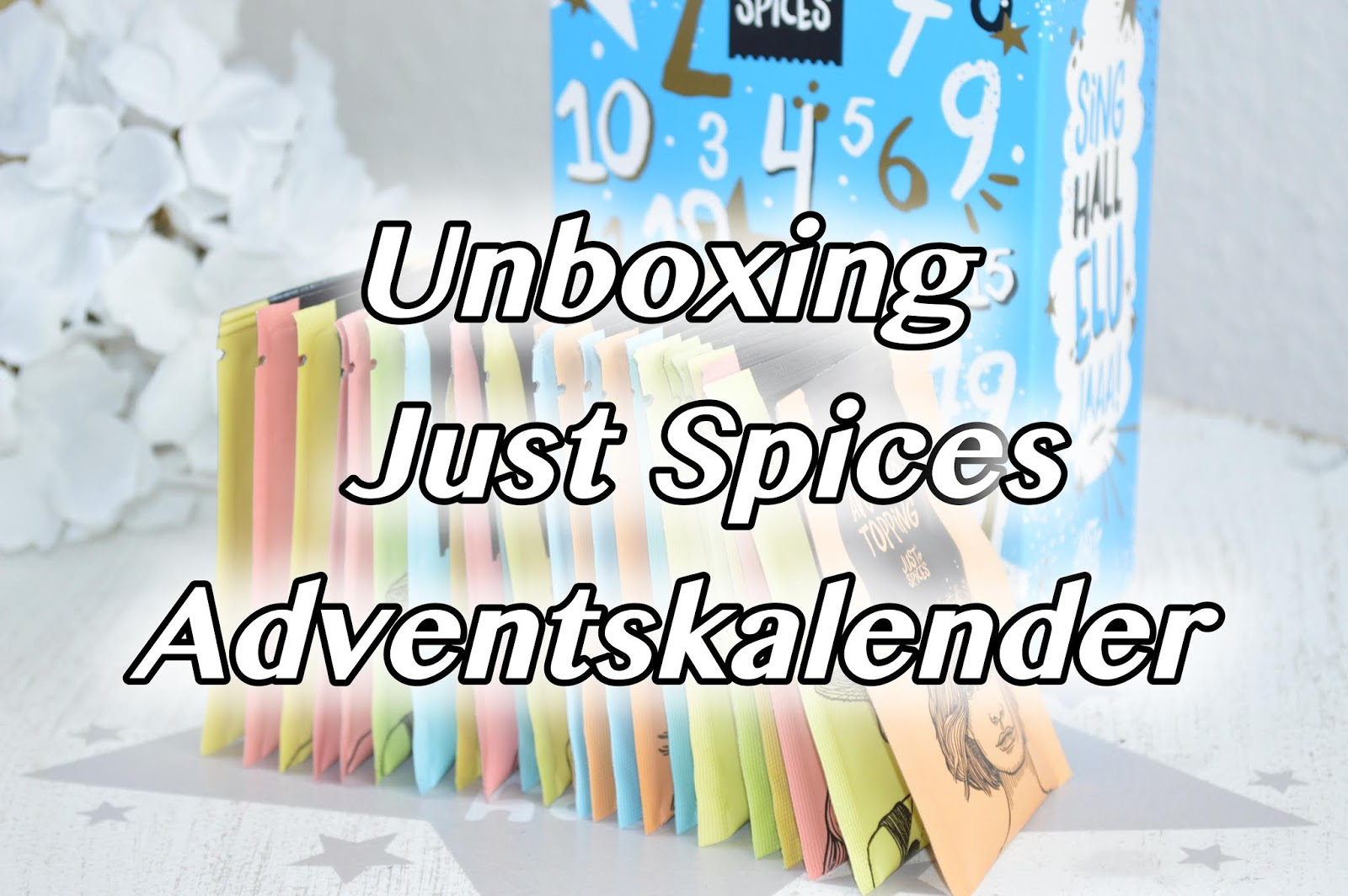 unboxing just spices adventskalender 2018 mellis beauty. Black Bedroom Furniture Sets. Home Design Ideas