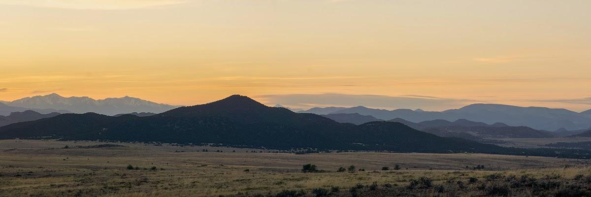 sangre de cristo sunset landscape with shavano and antero at left