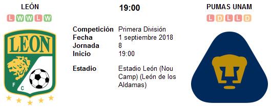 León vs Pumas UNAM en VIVO