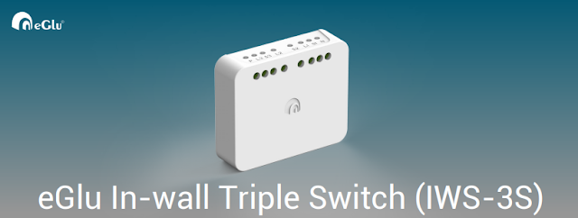 eGlu In-wall Triple Switch