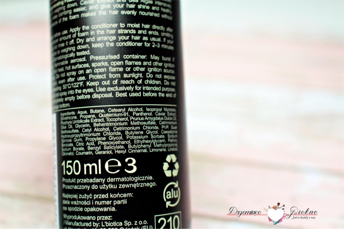 Regenerująca odżywka w piance Biovax Glamour Caviar - L'biotica - Drzemiace-piekno.pl