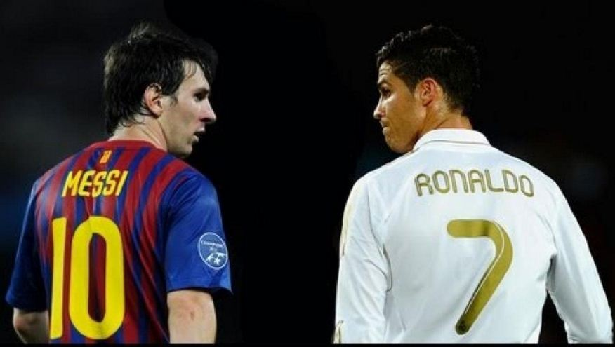 release date 8759e b6c5c Ronaldo With 'Messi 10' jersey - Webtusk