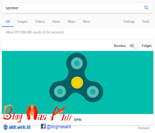 Virtual Fidget Spinner Game di Google
