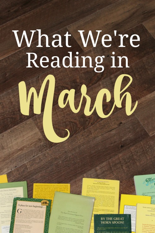 The March book list of a homeschooling family of 7