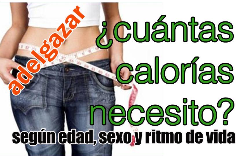 Cuantas calorias comer para adelgazar