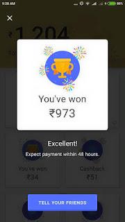 Won Maximum amount in scratch cards on Google Upi app Tez