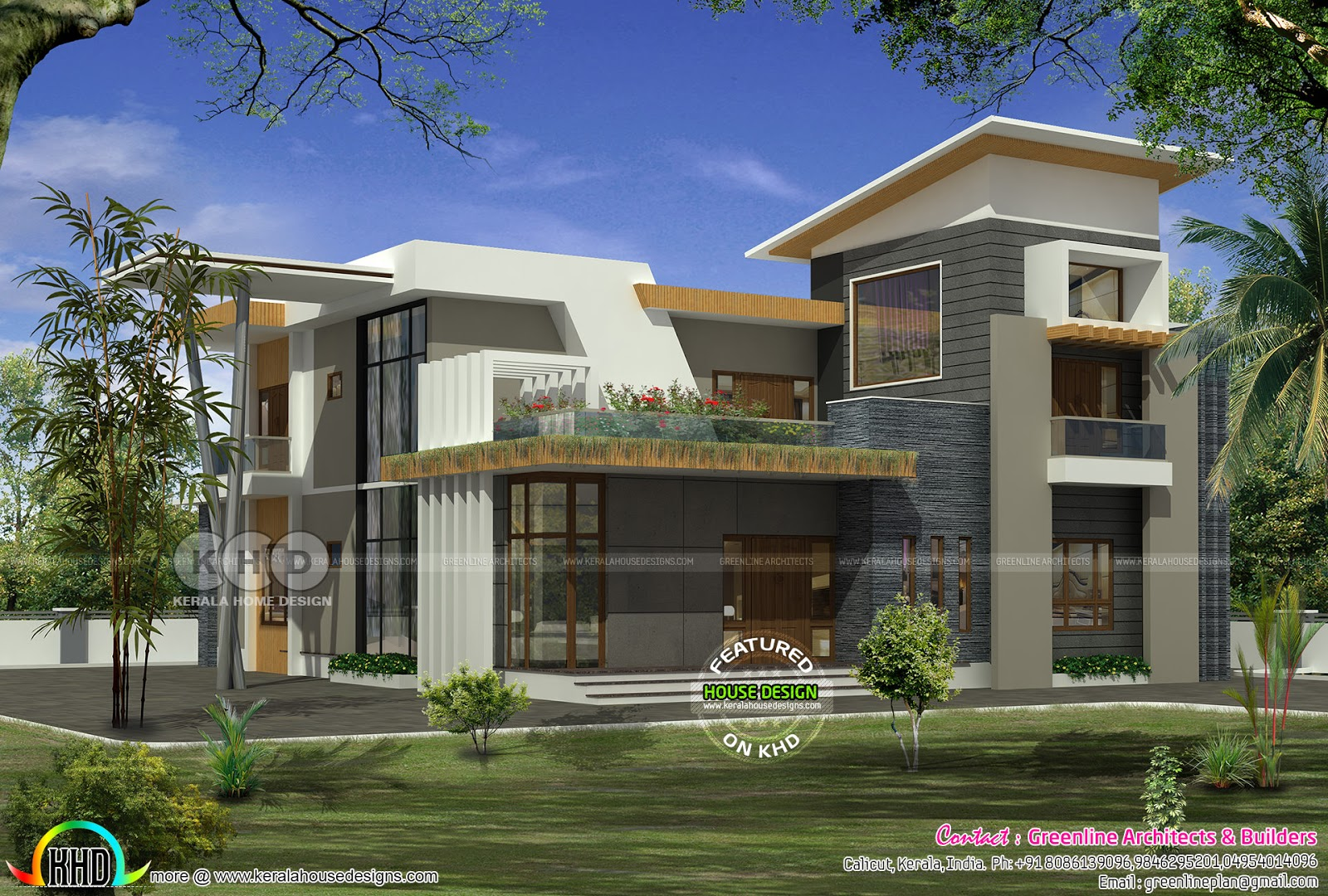 Minimalist Style Modern Contemporary Home Kerala Home Design