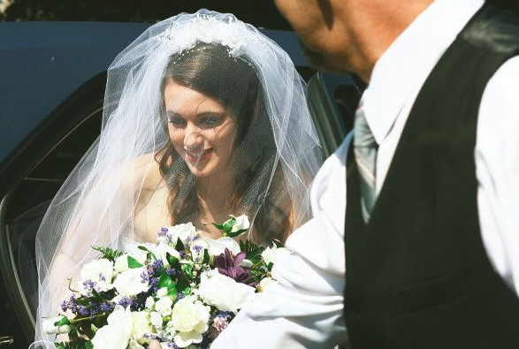 too young to marry, this is a photo of me on my wedding day.