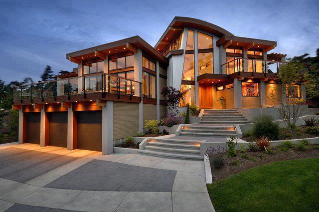 Fachadas de casas modernas fachadas de casas y casas por for Casas modernas y lujosas fotos