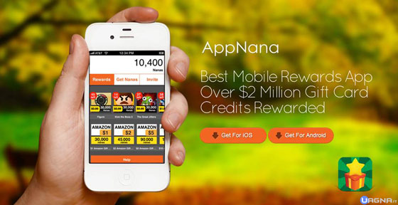 App Nana est une application iphone disponible sur l'app store. Elle permet de gagner des cartes amazon, itunes et du paypal, en regardant des videos, et en installant d'autres applications.