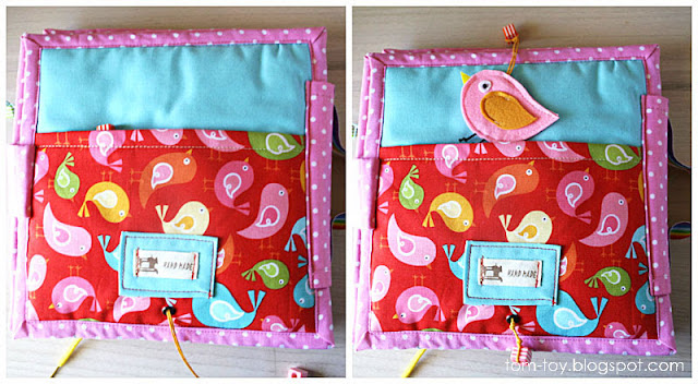 Quiet book for Maya, fabric book by tomtoy