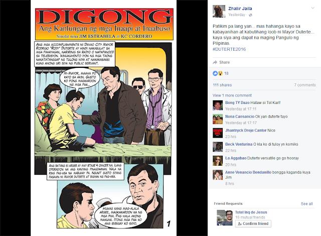Karl Comendador Duterte comics