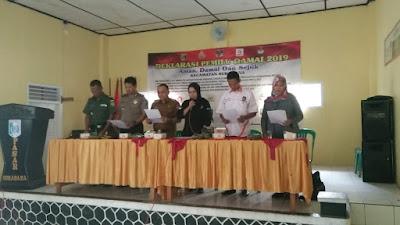 Polsek Sukadana Gelar Deklarasi Damai Pemilu 2019