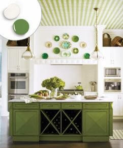 Kitchen Cabinet Colors 2018 White and Green