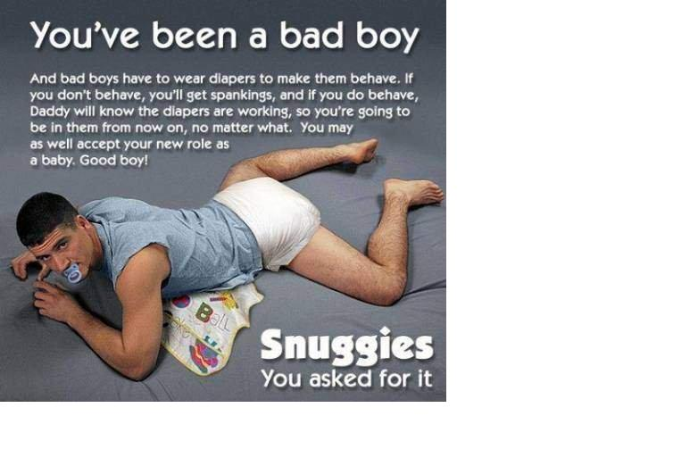 Have diaper spank bad boys think