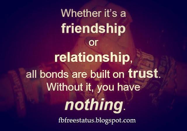 trust status for whatsapp, trust status for facebook, trust quotes