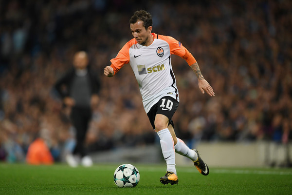 Bernard of Shakhtar Donetsk in action during the UEFA Champions League Group F match between Manchester City and Shakhtar Donetsk at Etihad Stadium on September 26, 2017 in Manchester, United Kingdom.
