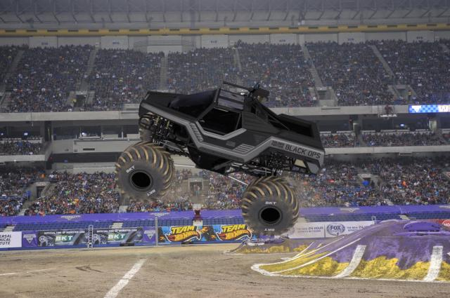 #MonsterJam's Soldier Fortune Black Ops, driven by Tony Ochs