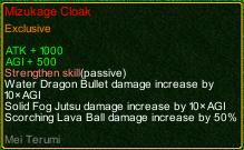 naruto castle defense 6.4 Mei Mizukage Cloak