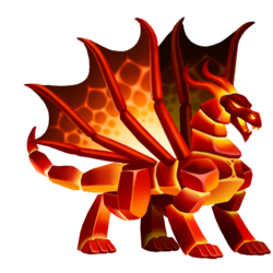 Appearance of Magma Dragon when adult