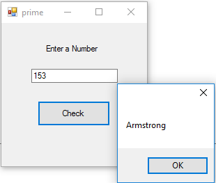 Armstrong Number program in vb.net