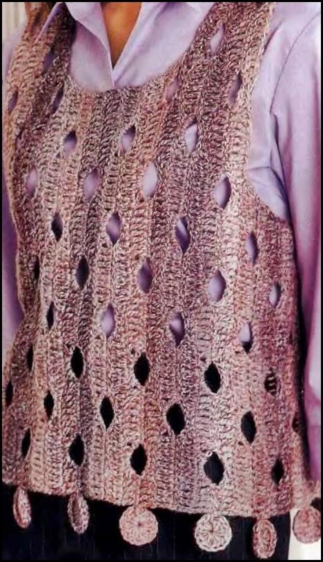 TEJIDOS A CROCHET - GANCHILLO - PATRONES: Chaleco tejido a crochet