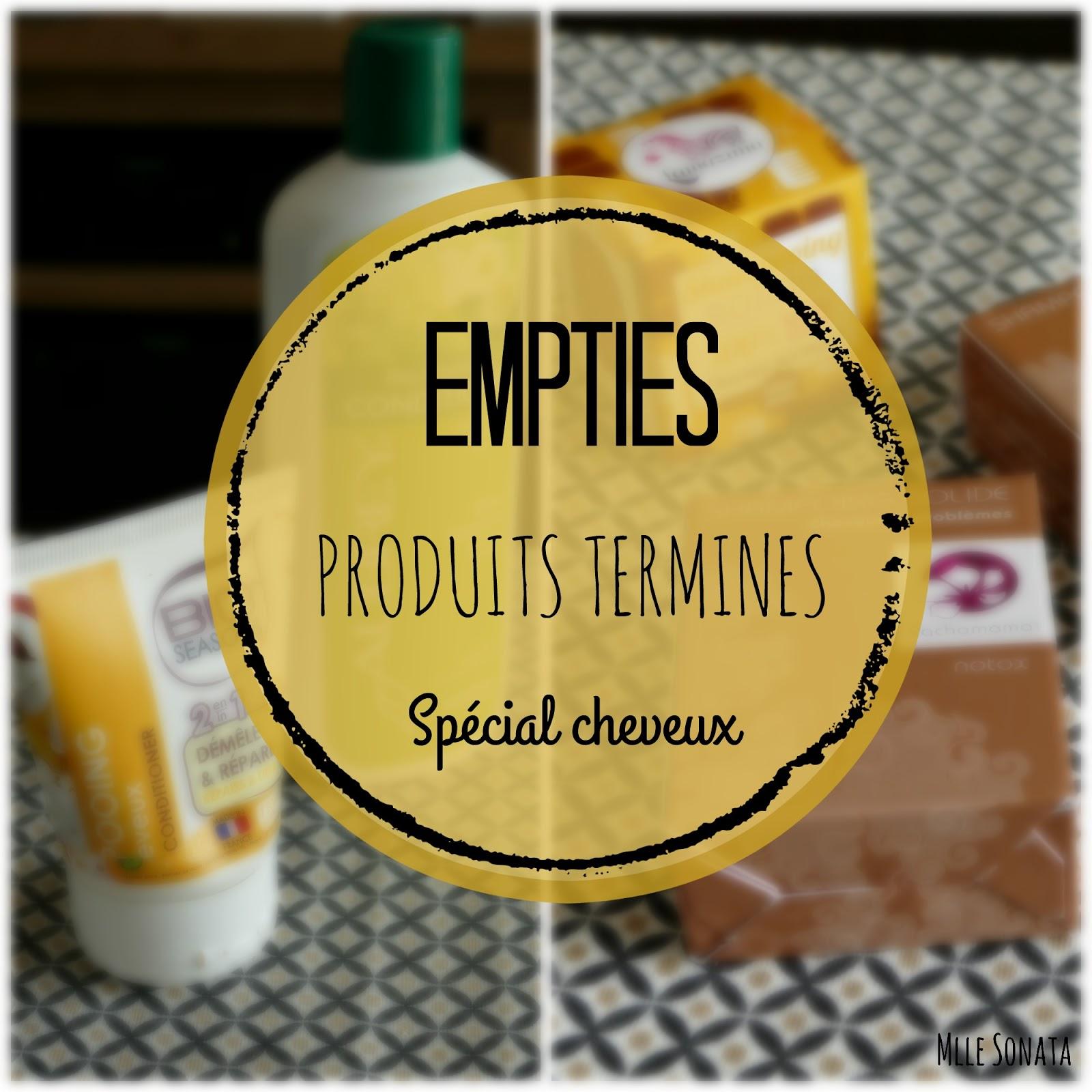 Empties : produits terminés spécial cheveux.