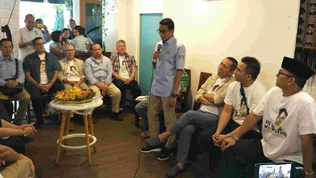 Giliran Sandiaga Uno Dapat Dukungan dari Alumni Pangudi Luhur