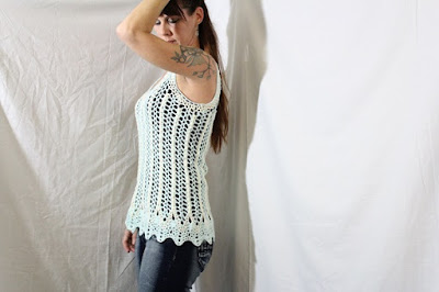 utorial, how to, free pattern, crochet, tank top, blouse, shirt, easy, lace, beginners