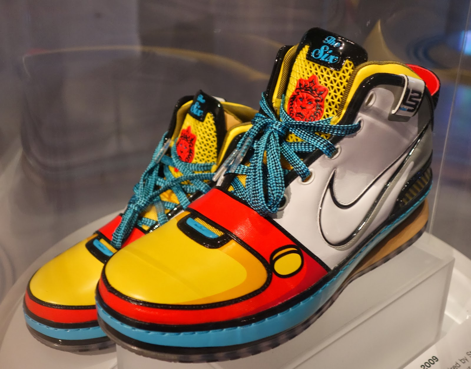 "11b10a57153 A pair of ""exceptionally rare"" Nike Lebron James  Stewie sneakers from 2009  is part of the sneaker culture exhibition. (Jim Fox photo)"