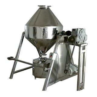 contoh alat pengaduk double cone mixer