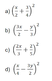 binomios al cuadrado polinomios