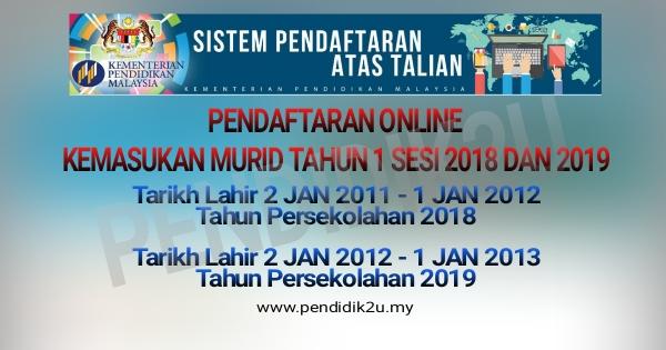 Pendaftaran Tahun 1 Online