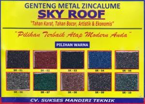 Harga Atap Baja Ringan Lapis Pasir Ukuran Genteng Metal Sakura Roof Multi Surya Sky