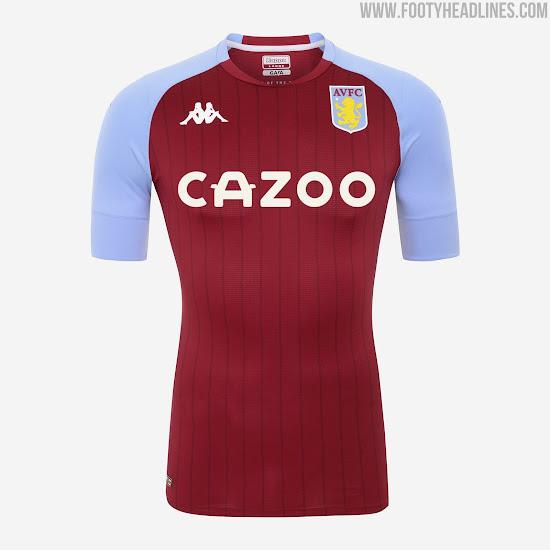 Aston Villa 20-21 Home Kit Released - Footy Headlines