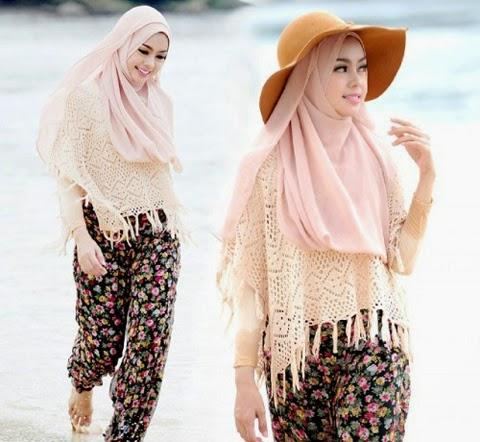 model baju hijab untuk ke pantai