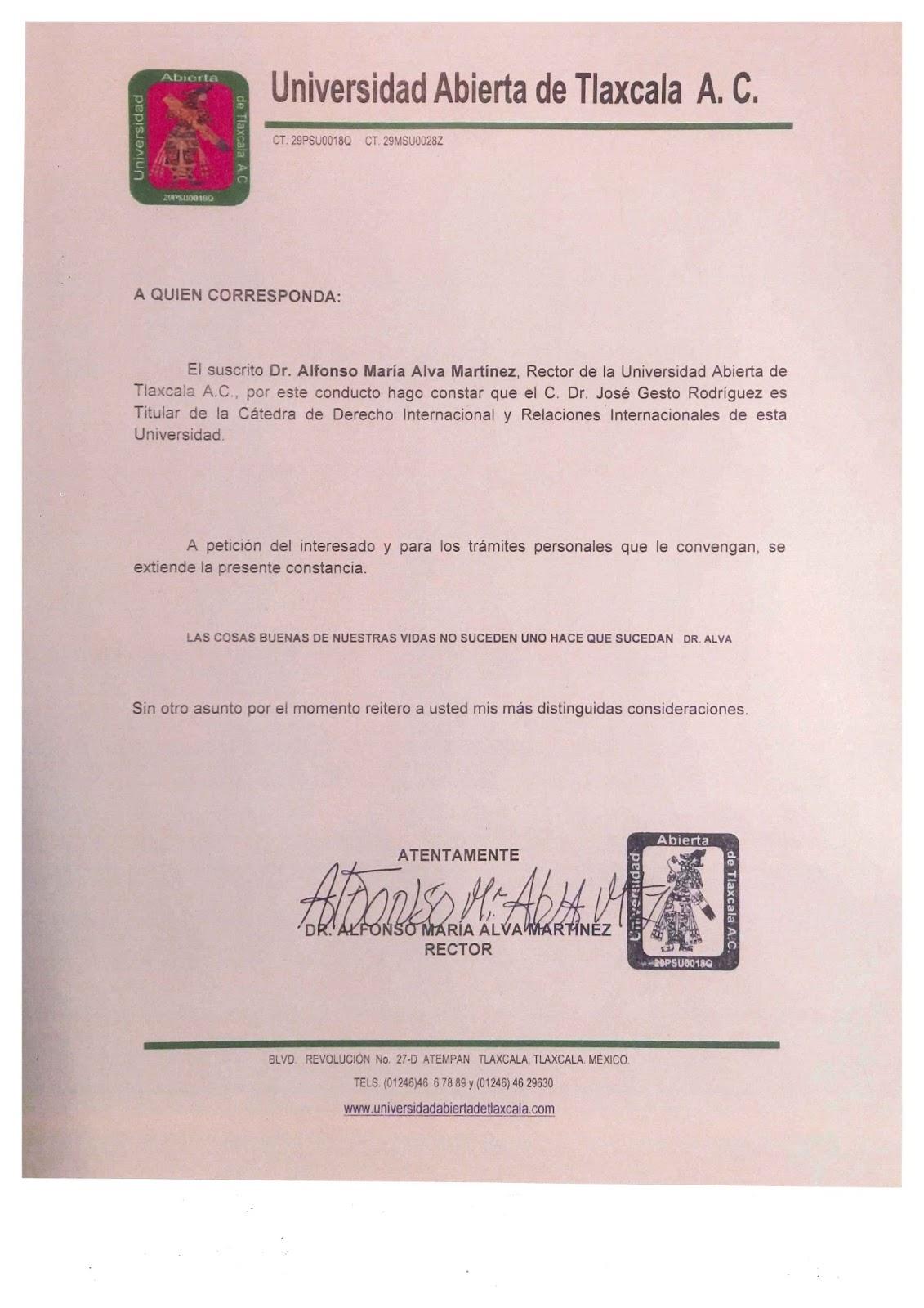 CATEDRÁTICO DERECHO INTERNACIONAL JOSE GESTO RODRIGUEZ, PhD ...
